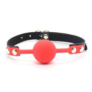 röd svart rosa silikon gagball