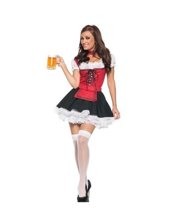 French maid dress oktoberfest beer girl