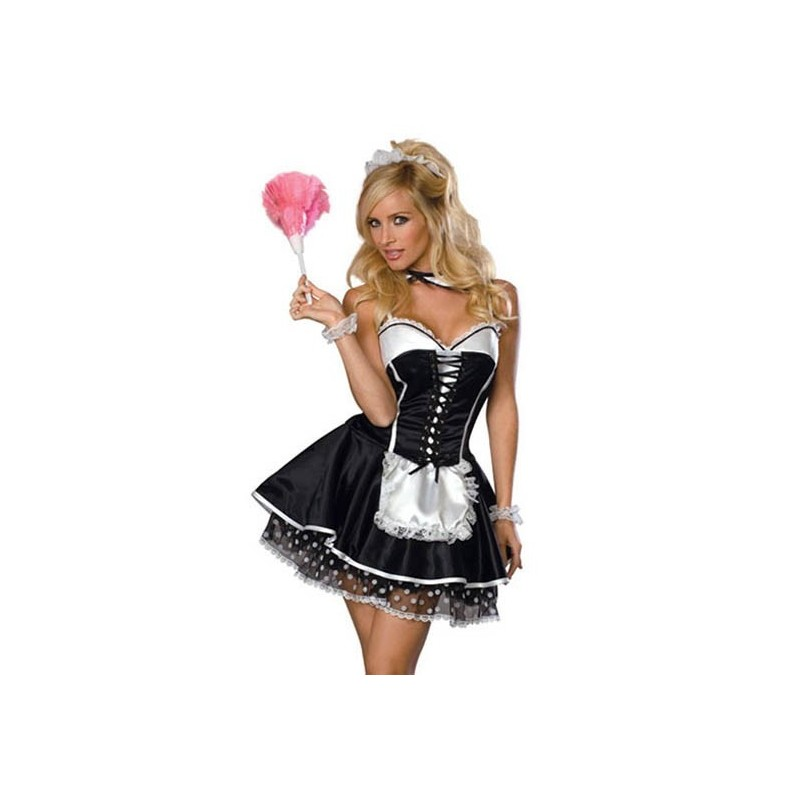 French maid maskeradkostym